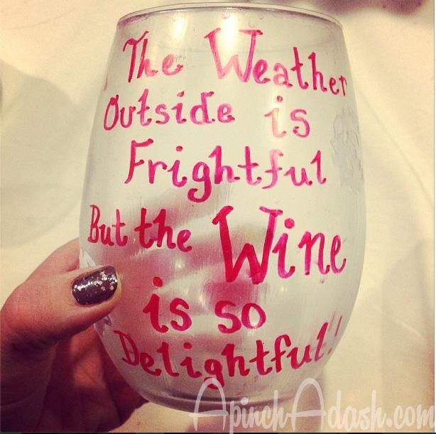 Wine is So Delightful Glass ApinchAdash.com