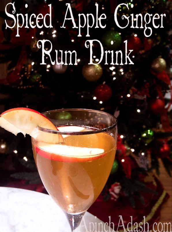 Spiced Apple Ginger Rum Drink ApinchAdash.com