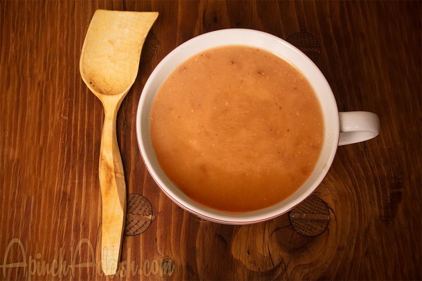 Roasted Garlic Soup ApinchAdash.com