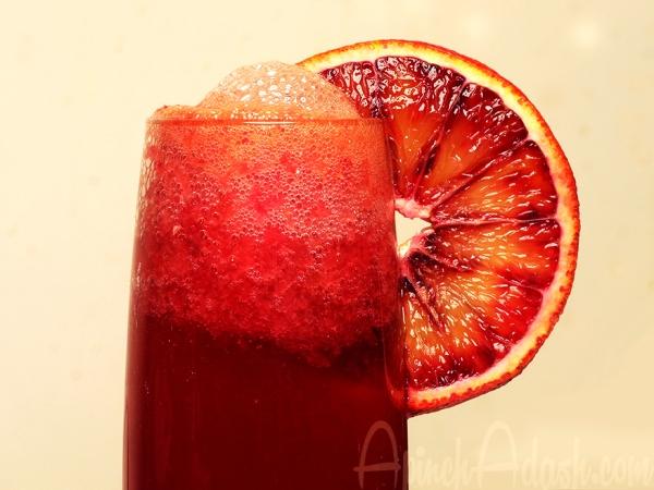 Blood Orange Mimosas via ApinchAdash.com