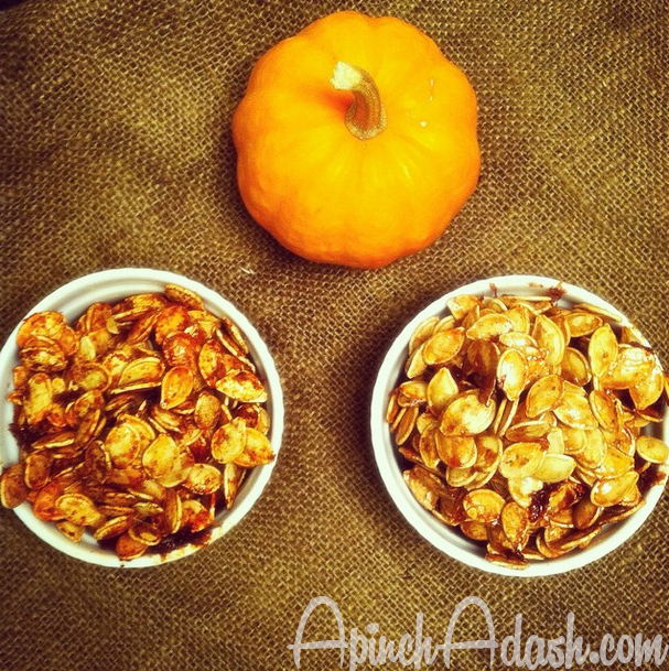 Roasted Pumpkin Seeds Recipe apinchadash.com