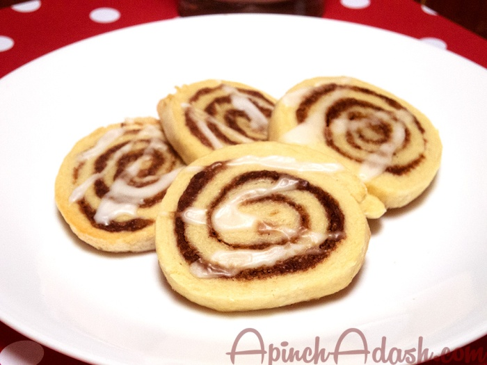 Cinnamon Roll Cookies apinchadash.com
