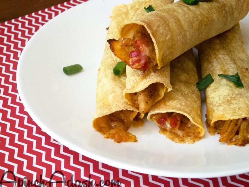 Homemade Chicken Taquitos apinchadash.com