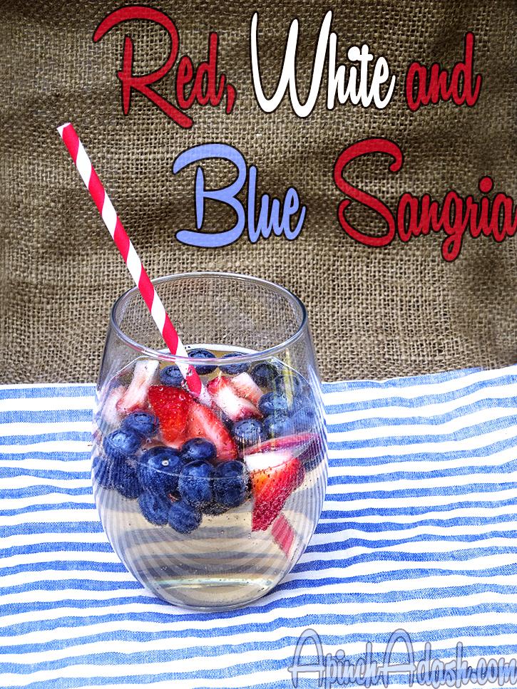 Red White and Blue Sangria apinchadash.com
