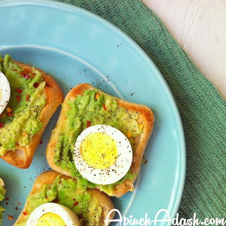 Avocado and Egg Crostini apinchadash.com