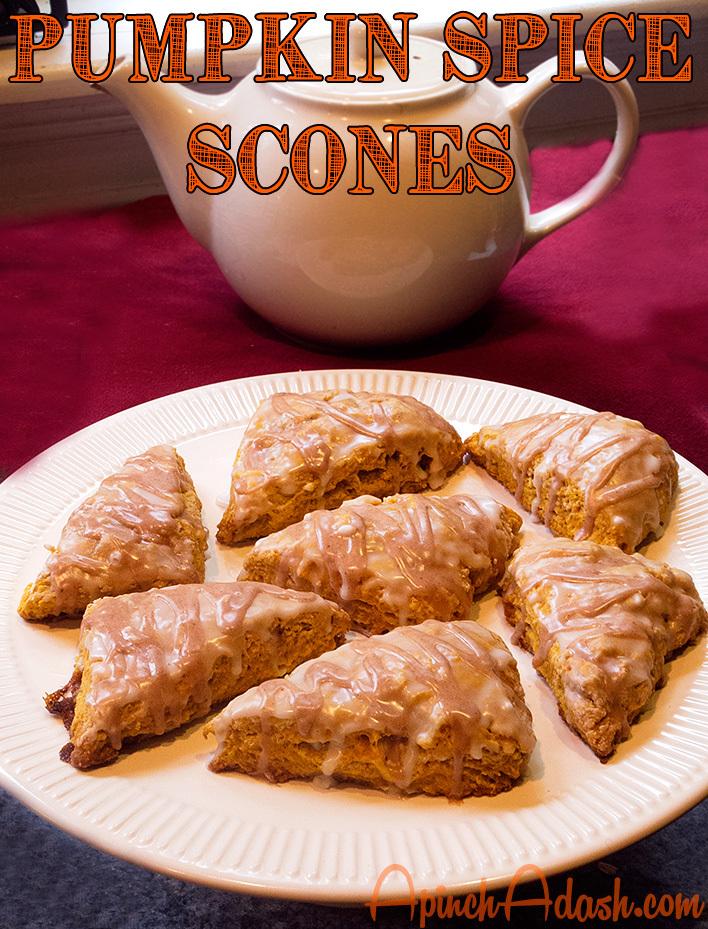 Pumpkin Spice Scones apinchadash.com