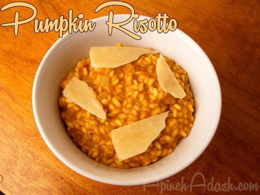 Pumpkin Risotto apinchadash.com