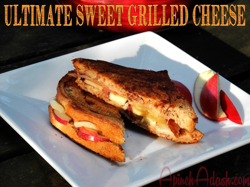 Ultimate Sweet Grilled Cheese apinchadash.com