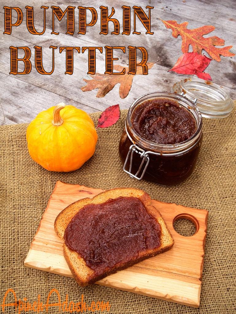 Pumpkin Butter apinchadash.com