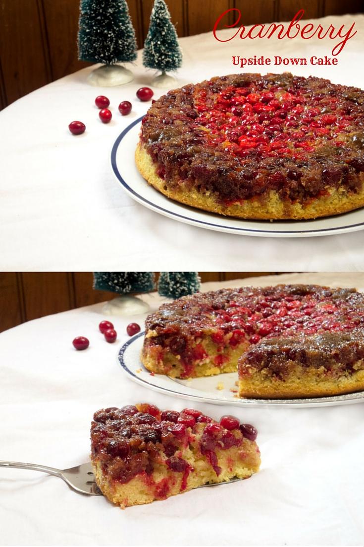 Cranberry Upside Down Cake apinchadash.com